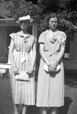 Trella and Mary Hemmerly in the 1930s